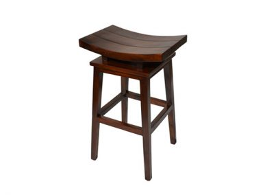 Angie stool 3 panel 40x35x70cm in medium stain