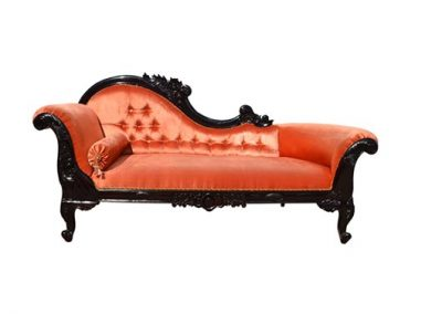 Archi love seat with carved timber