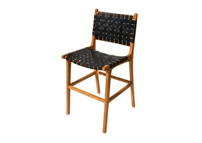 BELLE-STOOL-STRAPPED-LEATHER-WITH-BACK-BLACK-