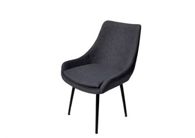 Fabric dining chair with black frame, many fabric colors available