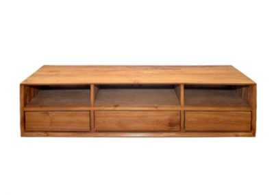 Floating tv unit 200x40x50cm with 3 drawers