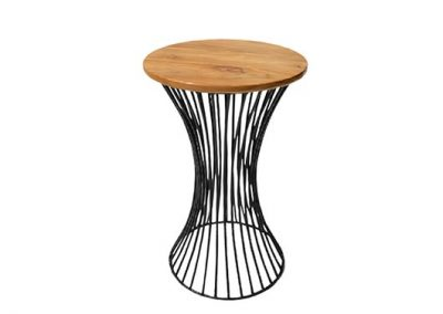 Industrial wire side table 40x40x65cm