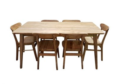 Oslo retro dining setting 150x90cm and dining chairs