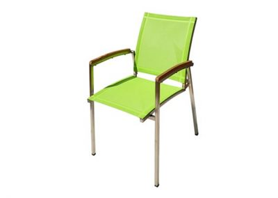 Outdoor paris chair, lime batyline