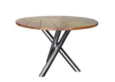 Outdoor riviera round dining table 120cm diameter