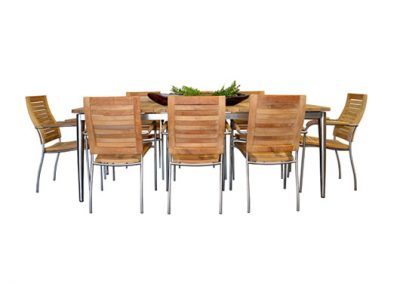 Riviera dining setting 8 seater 220x100cm