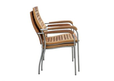 Riviera stackable dining armchair