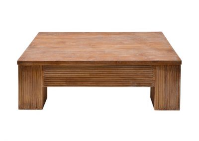 Samrong sumiko groove coffee table 120x70cm , finished in white wash