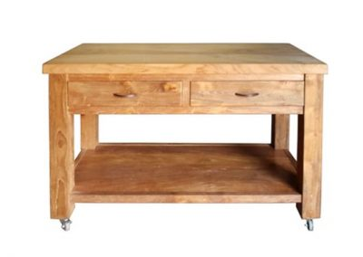 Boss butchers block on wheels-120x45x85cm