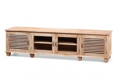 Ceasar tv unit 220x40x55cm with glass doors