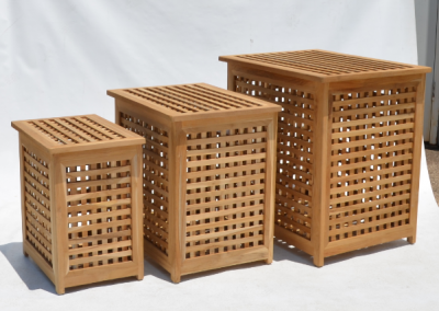 HOMEWARES LAUNDRY BASKETS TIMBER