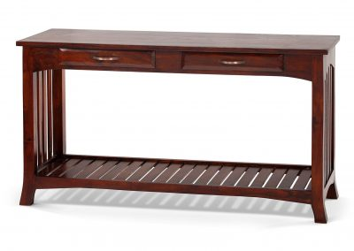 Jati console 3 drawer 140x40x76 in Medium stain