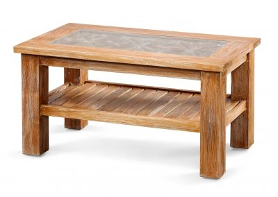 Oracle carved  coffee table with carving, glass and shelf 90x50x45cm in white wash