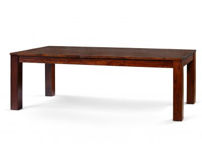 Plain dining table 300x100cm in medium brown