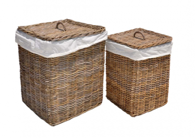 Laundry lined baskets set of 2