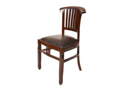 Archi Batavia dining chair with leather seat