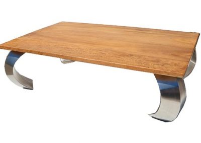 Opium coffee table with stainless steel legs 130x80cm