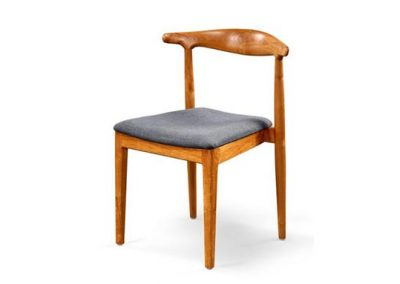 Gus stackable dining chair with fabric seat
