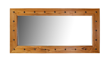Jaya mirror with brass studs 140x70cm