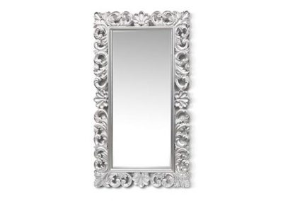 Silver timber carved mirror
