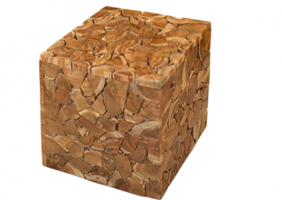 Timber moziac sidetable square