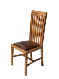 Verona dining chair with leather seat.