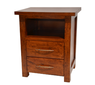 Gagadju bedside finished in walnut stain