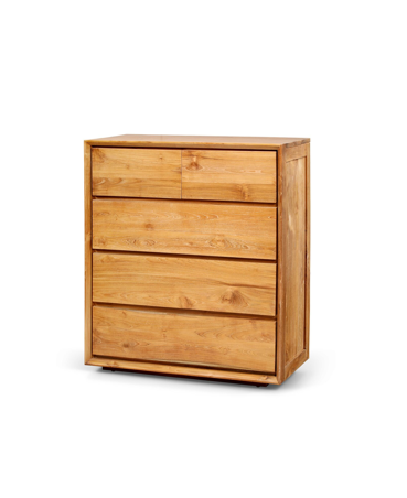 floating chest of 5 drawers 100x45x110cm x