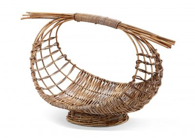 Rattan fruit basket 70x50x50cm croco