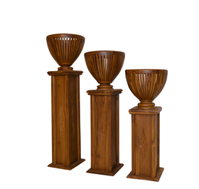 Flower pedestals stands