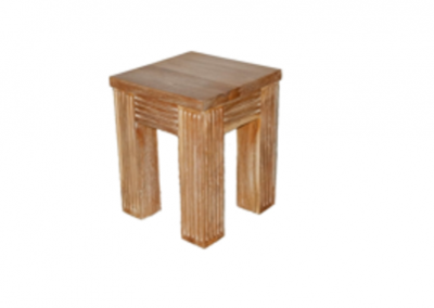 side table sumiko grooves 40x40x60cm