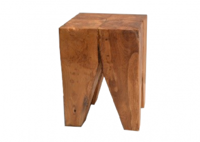 timber side table 4 legs